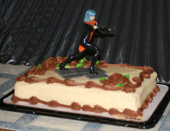 Photo: My birthday cake this year, adorned with my 3D Print