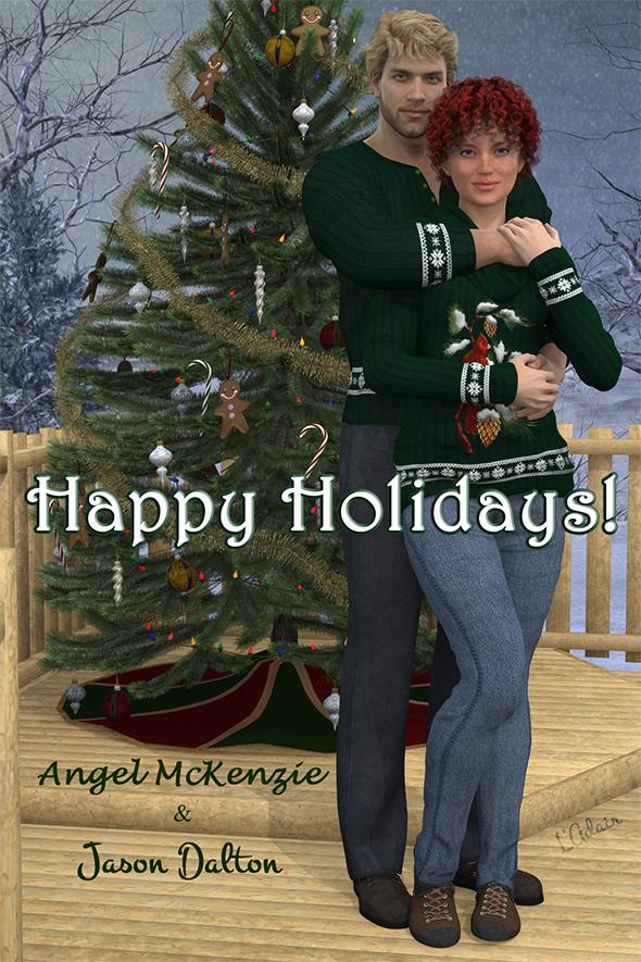 Merry Christmas from Angel McKenzie & Jason Dalton (& Lorraine Adair)