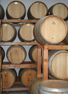 Wine Barrels, Back Room at The Flying Dutchman Winery